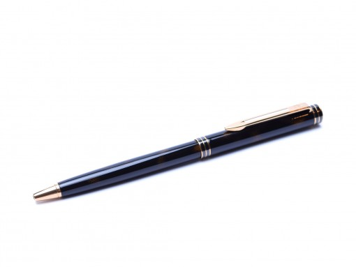 """1990's Waterman """"Exclusive"""" Chinese Lacquer $ Gold Ballpoint Pen"""