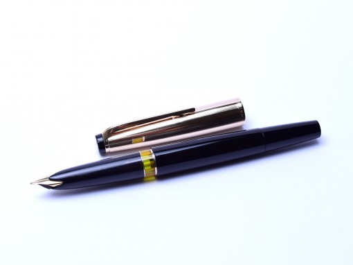 MONTBLANC 72 Masterpiece Meisterstuck Rolled Gold 18K OF Oblique Fine Fountain Pen