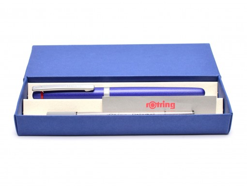 NOS New Rotring Freeway Navy Blue Metal Body Matte Satin Finish Rollerball Pen In Box S0212680 R074516