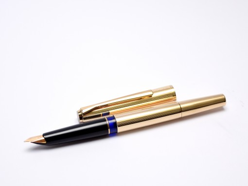 Stunning Rare 1960s Pelikan M60 / 60 All Rolled Gold 750 18K HF Nib Piston Filling Fountain Pen