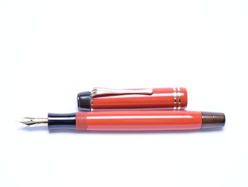 1938 Original SIMPLO Montblanc Masterpiece Meisterstuck Coral Red No.2 #2 Nib Denmark Push Button Fountain Pen