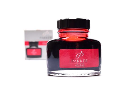 NOS Vintage Rare 1999 PARKER QUINK RED Rouge Fountain Pen Glass Bottled Ink 57ml 1.9fl oz Made in France