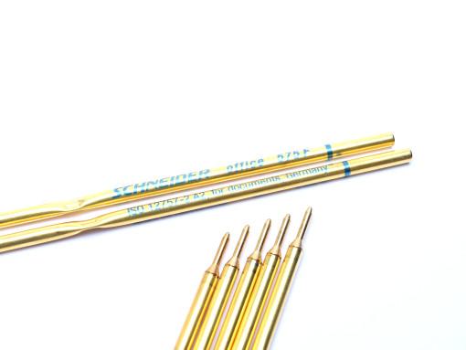 Schneider 575 / 75 Office Blue Ballpoint Pen Metal Slim Refill ISO 12757-2 A2 Made in Germany