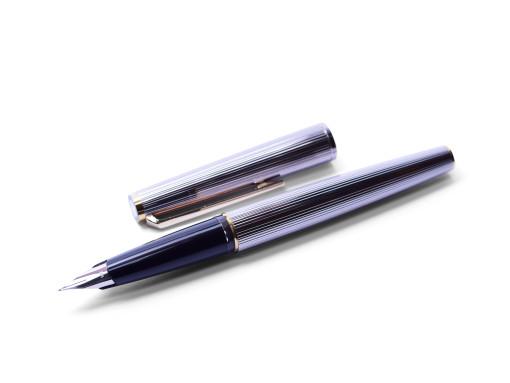 Rhodium MONTBLANC 220 Classic Godron 14K Cartidge Fountain Pen