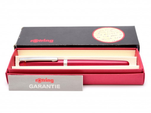 Beautiful New NOS 2000s Lady Rotring Freeway Rubin Red Aluminium Body Matte Satin Finish F Fine Nib Fountain Pen In Box