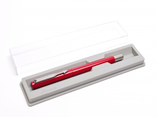 The Original 1992/93 IA - IIIL NOS PARKER Vector Made in France Classic Burgundy Maroon Red & Matte Steel Rollerball Pen in Box with Refill