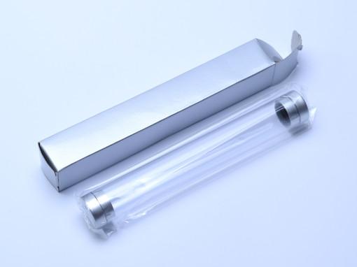 New Fountain & Ballpoint Pen Cylinder Tube Storage Case Box Transparent Hard Plastic & Foam