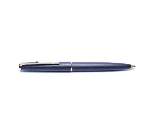 "1960s MONTBLANC No.280 Grey Matte Brushed Ballpoint Pen ""Eleventh Finger"" Lever Mechanism"