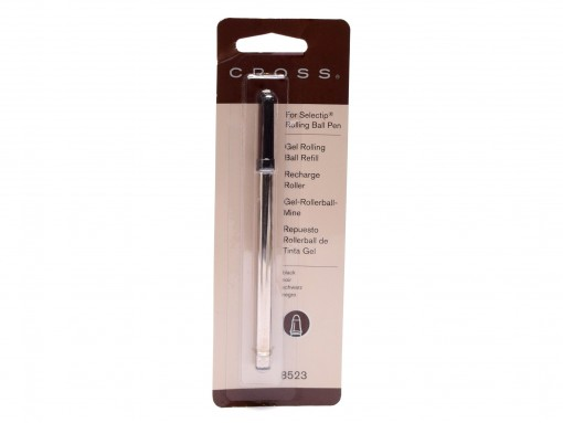 New Authentic CROSS 8523 Standard M Medium Black 1 Per Card Proprietary Selectip Gel Rollerball Refill