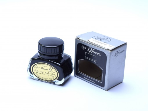 Very Rare Vintage 60's REFORM Germany Fountain Pen Ink in Glass Bottle Container Black