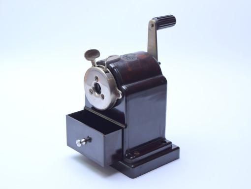 30's Mint Art Deco FTE Germany Bakelite Mechanical Semi-Automatic Pencil Sharpener Model 120