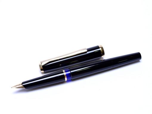 Vintage 1960 Pelikan 30 (M30) Rolled Gold 14K F Fine Flexible Nib Piston Fountain Pen