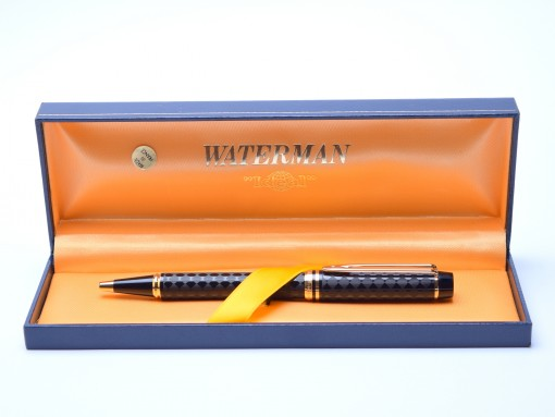Waterman Harlequin Ideal Le Man 100 Chased Checkerboard Ballpoint Pen