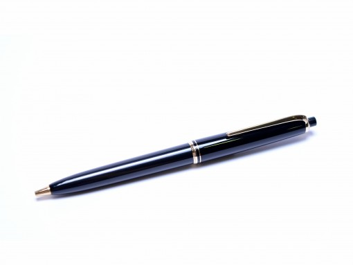 Rare 1960s MONTBLANC 26 Black Resin & Gold 1.18mm Push Button Repeater Mechanical Pencil