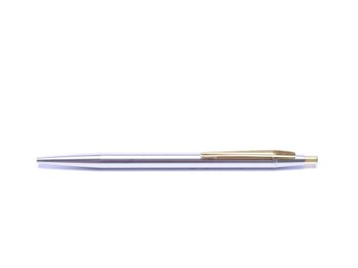 1970s Montblanc Noblesse Obligue Slimline Stainless Steel Ballpoint Pen Refill Adapter