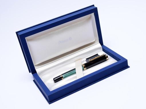 PELIKAN M1000 Souveran Flexible F Fine 18C Nib Tortoise Green Fountain Pen