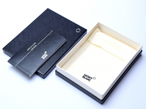 MONTBLANC Display Jewelry & Leather Box Case With Service Guide