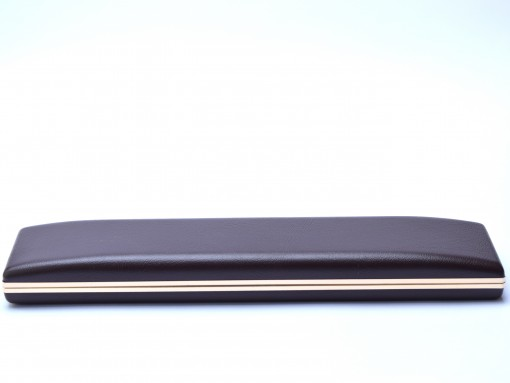 Oversize 23cm Brown Leather and Velvet Display Presentation Box Case for 2 Fountain / Ballpoint Pens