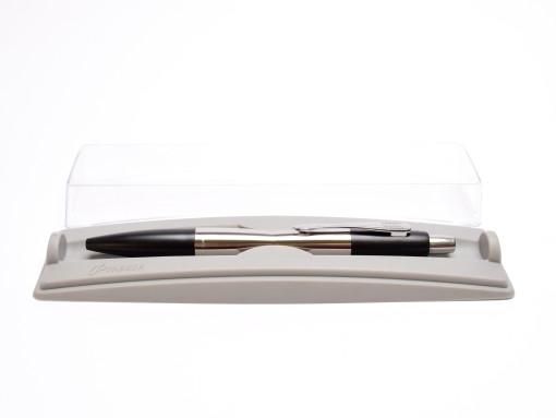 Rare Made in UK 2002-2005 NOS Heavy Stainless Steel PARKER Dimonite Carbon Black Ballpoint Pen in Box