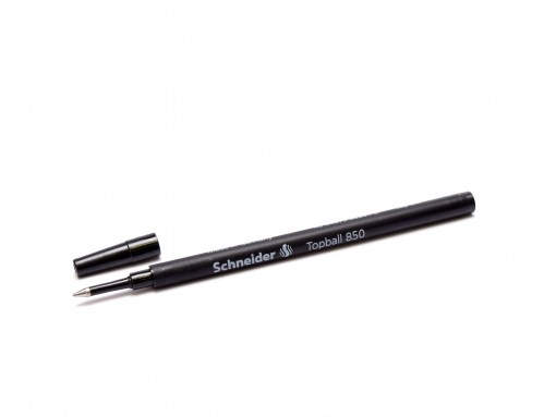 New Schneider Topball 850 / 811 European Euro Size Black Rollerball Pen 0.5mm Anti-Dry Refill Made in Germany