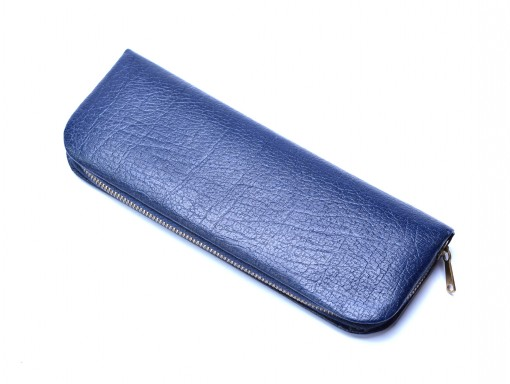 Vintage High Quality Genuine Blue Leather Pouch Case for 3 Fountain / Ballpoint Pens
