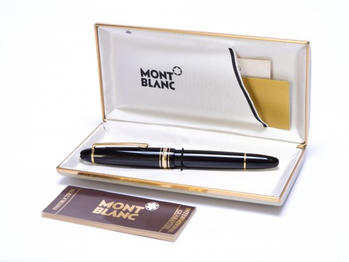 1990s Montblanc 146 Le Grand Meisterstuck Masterpiece Pix Two-Tone BB Double Broad 14K 585 Gold Nib Fountain Pen