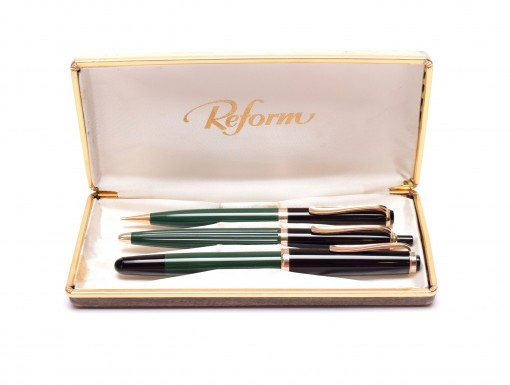 Vintage Original Reform 4000 Pelikan 400NN Counterpart Fountain Ballpoint Pencil Pen set