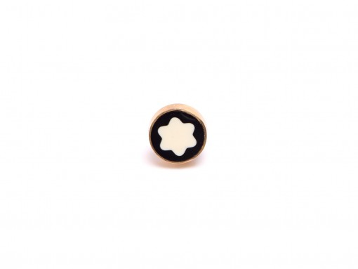 Vintage Montblanc Noblesse Oblige Fountain & Rollerball Pen Black & Gold Cap Top Emblem Part Spare Repair