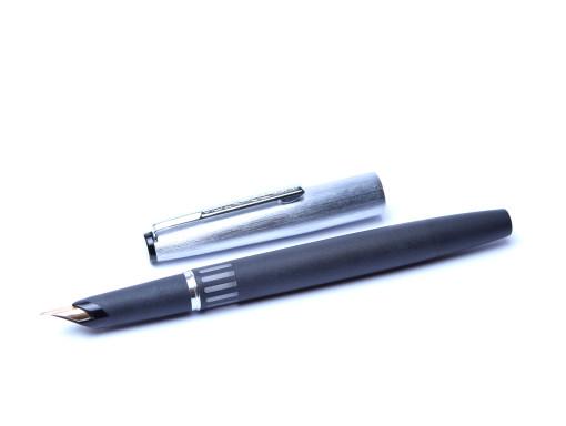 Senator Matte Grey & Silver Fountain Pen