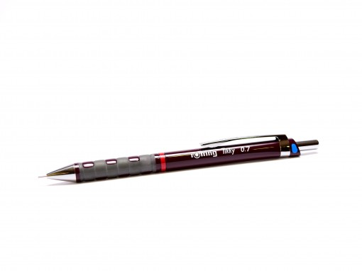 NOS New Rotring Tikky Mechanical Pencil w/ Rubberized Grip Dark Burgundy Bordeaux Color 0,7MM Leads