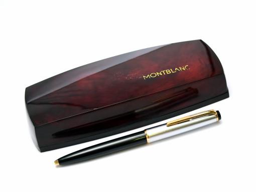 "Rare 1960s MONTBLANC No.38 S (#38S) Black Resin & Matte Steel ""Eleventh Finger"" Lever Mechanism Ballpoint Pen"