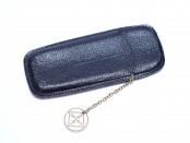 Vintage High Quality Genuine Black Leather Mini Kaweco Sport Pouch for 3 Fountain/Ballpoint & Pencil Set Pens With Badge