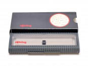 NOS Grey Rotring Showcase Clear Window Pen Case Box for 1 Fountain Ballpoint or Rollerball Pen & Pencil (R026897)