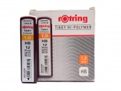 Rotring Tikky Hi-Polymer 1,0mm HB Pack of 12 Leads for Mechanical Pencil