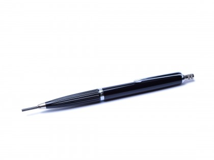 1960's Reform No. 615 Germany High Quality 2mm Leads Black & Chrome Mechanical Pencil With Sharpener