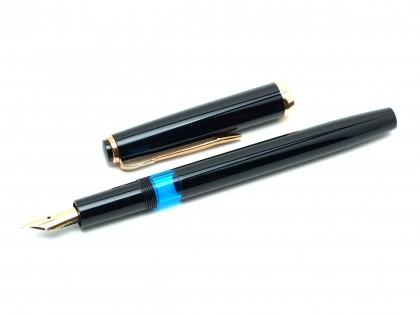 Made in Germany Reform 1745 All Black 70's Fully Flexible F to BB 14K Gold Nib Fountain Pen