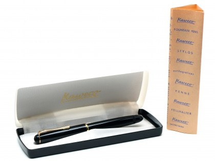 1955 Kaweco 475 / 475G Transparent Semi-Flex 14K Gold EF Nib Fountain Pen In Box