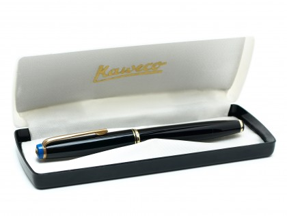 1960's KAWECO 36 / 36G Black Resin Semi-Flexible 14K Gold M Nib Fountain Pen in Box