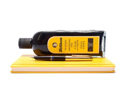 Vintage 1960s PELIKAN 30 (M30) Rolled Gold & Black Resin 14K 585 EF Extra Fine Flex Nib Piston Fountain Pen