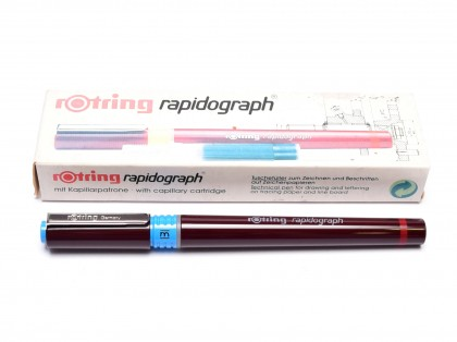 NOS Vintage Rotring Rapidograph Stainless Steel 0.70mm Tip Technical Pen Made in Germany
