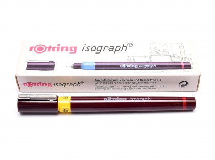 NOS Vintage Rotring Isograph Stainless Steel Tip Technical Pen Made in Germany