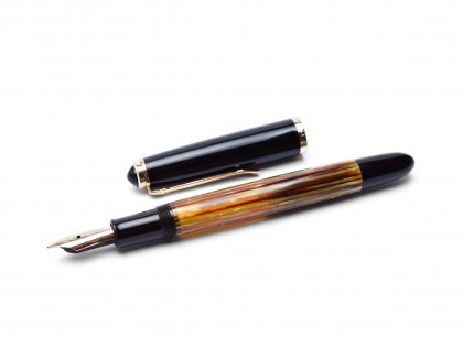 Late 50s Early 60s Pelikan 400NN (400) Flexible F to BB 14K Nib Tortoise Brown Striped Gunther Wagner Fountain Pen