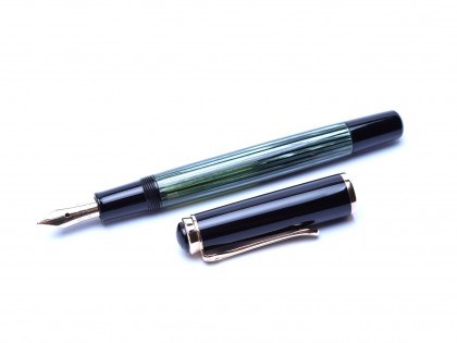 The Original First Series 1951 PELIKAN 400 Fully Flexible 14K 585 Gold F Nib Tortoise Green Fountain Pen