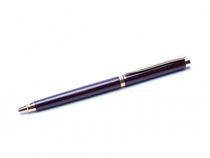 Rare 1992 Pelikan Marsala D381 Dark Red Bordeux Lacquer & Gold Ballpoint Pen