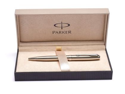 Parker Sonnet Flighter CT Stainless Steel Chrome Trim Twist Mechanism Ballpoint Pen in Box Made in France