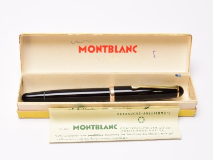 Stunning Large NOS in Box Original 1955 MONTBLANC 344 Flexible 14K Gold EF to 3B Nib Fountain Pen