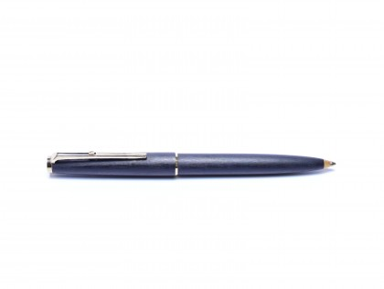 "1960s MONTBLANC No.280 Grey Matte Brushed Ballpoint Pen ""Eleventh Finger"" Lever Mechanism"