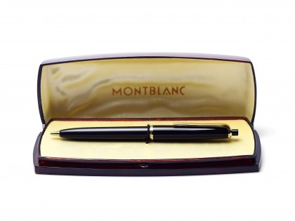 Vintage 1960s Montblanc Pix 35 1.18mm Lead Precious Black Resin Mechanical Pencil in Box