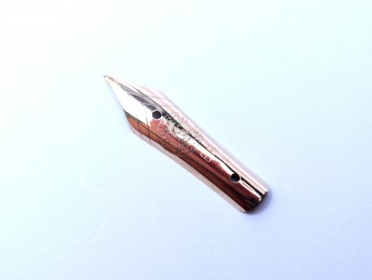 Original 1950's PELIKAN 400 400N 400NN Fountain Pen 14K 585 Solid Gold Flex Two Hole Nib F Size Unit Part Spare