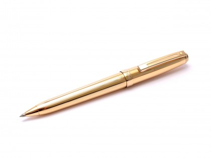 Sheaffer Prelude 22K Gold Plated Fluted 0.7 Upper Body Push Mechanism Mechanical Pencil